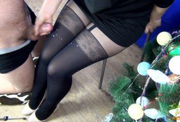 Cum on my mistress pantyhose-stockings